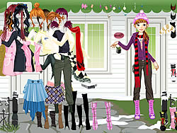Girl Waiting Dressup