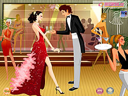 Couple at Night Party
