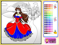 Castle Of Princess Coloring Game