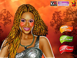 Beyonce Knowles Celebrity Make up Game