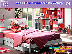 Girls Bedroom Hidden Alphabets