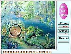Sea and Mermaids Hidden Numbers