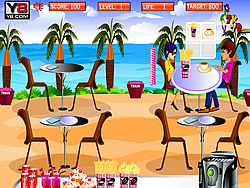 Beach Restaurant Serving