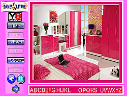 Lovely Pink Room Find the Alphabets
