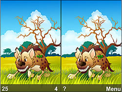 Animal Life Spot Difference Game