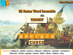US States Word Scramble