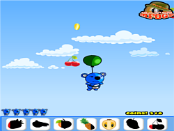 Blue panda fruit catcher