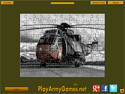 Military Helicopter Jigsaw