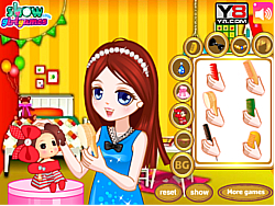 Dress Girl's Doll Hair