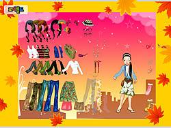 Autumn Post Card Dress Up